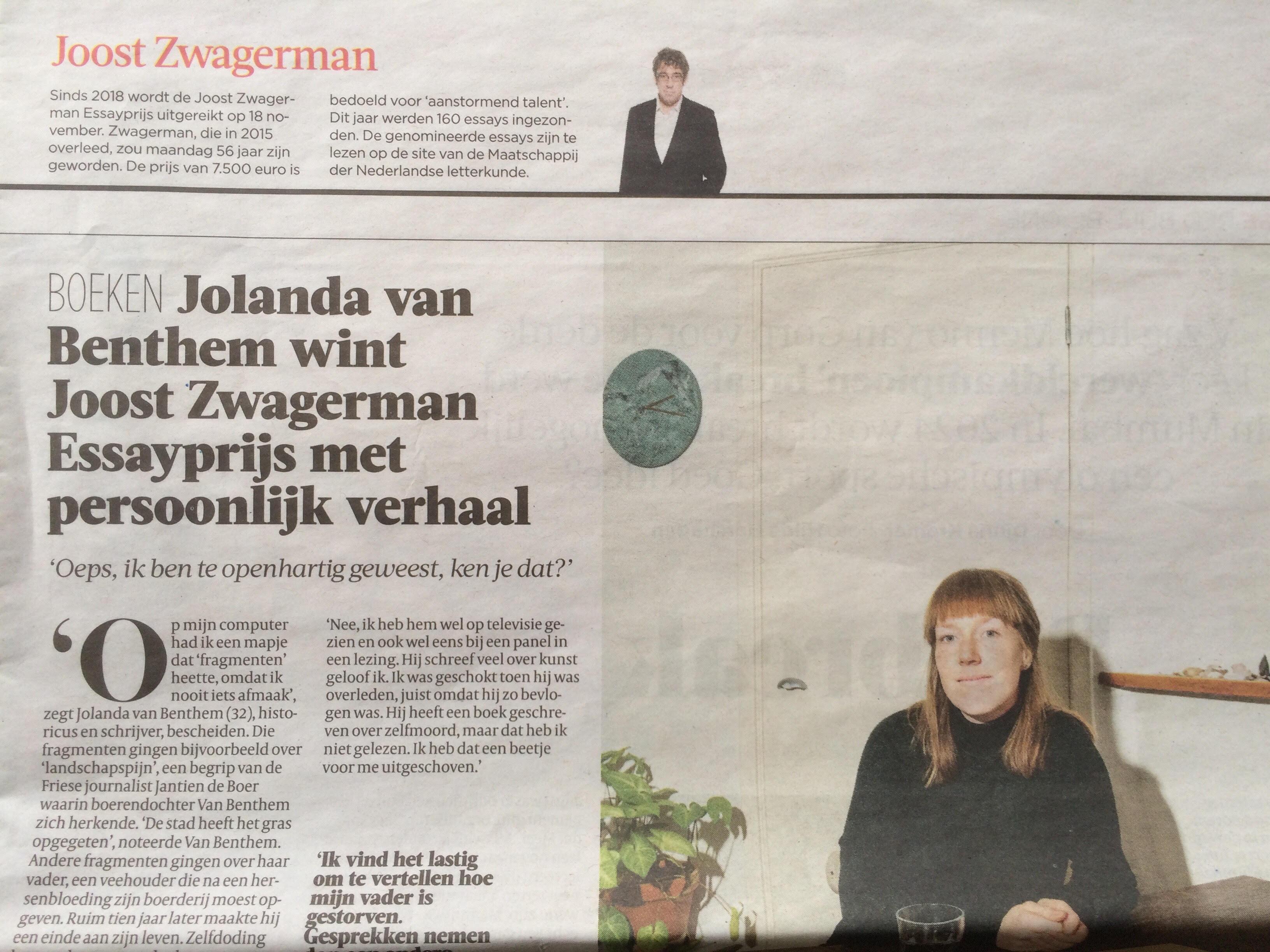 Joost Zwagerman Essay Prijs